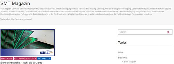 SMT Fachverlag baut Präsenz im Internet aus & neue Kooperation